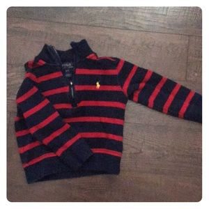 Polo by Ralph Lauren red and blue zip up sweater